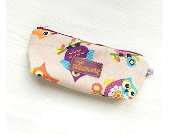 Pencil case customizable, children pencil case, back to school supplies, fabric pencil case
