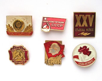 Soviet Badges, Pick up, Set, Communism, October Revolution, 1917, Vintage collectible badge, Soviet Vintage Pin, Soviet Union, Made in USSR