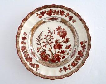 Set of 9, Copeland Spode England Orange Indian Tree Side plates