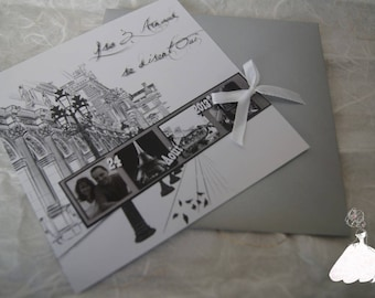 Share Paris Vintage black & white