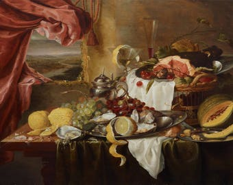 Laurens Craen: Still Life with Imaginary View. Fine Art Print/Poster (004473)