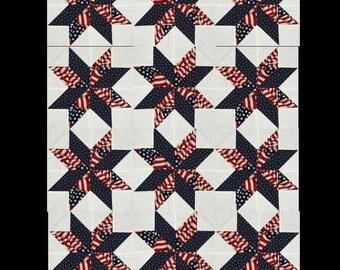 Valor Quilt Blocks, Patriotic  Star