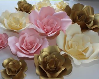 SALE!!!! Set of 12 Paper Flowers for Wall Décor, Backdrops, Weddings and Showers decoration