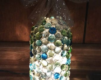 FREE SHIP** Bottle lights- Light up bottle- Lamp- Reflection - Clear lights- Plug-in- Decoration for Any room- Unique Gift ***FREE S&H***