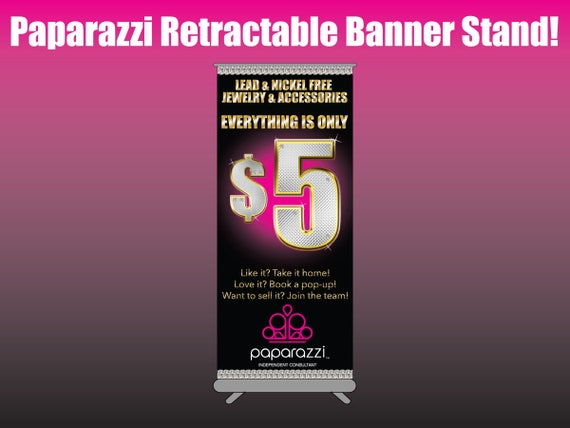 paparazzi jewelry banners paparazzi color retractable printed standing banner chart 2126
