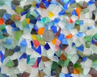 300 teeny weeny sea glass pieces in assorted colours