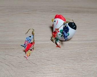 Boucles d'oreilles Koinobori Origami