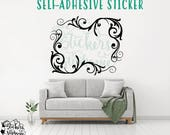 STICKER v160-A Set of 2 Corner Scroll Flourish Vinyl Decal *Specify Color Choice in Notes or BLACK Vinyl