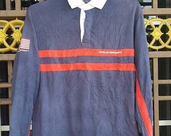 MEGA SALE 20% Vintage Polo Sport Ralph Lauren rugby shirt