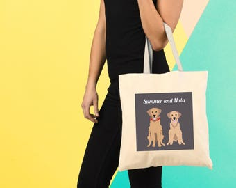 Custom Tote Bag, Custom Pet Tote Bag, Custom Illustration