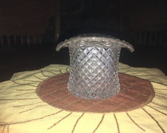 Vintage Westmoreland English Hobnail Clear Top Hat Topper
