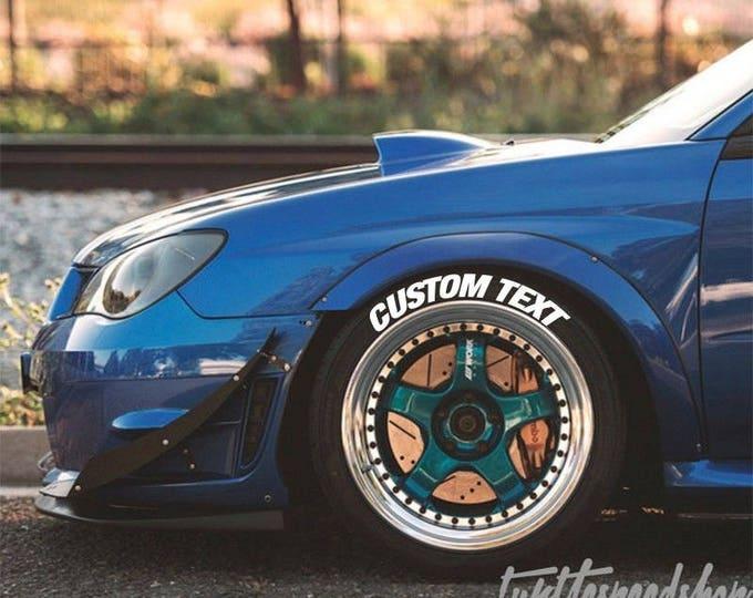 Custom Tire Bomb Stencils JDM Lettering Track RWB Idlers Evo STI Type-R *Pair Only