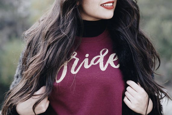 Custom Bride Crewneck Sweater | Bride Sweatshirt