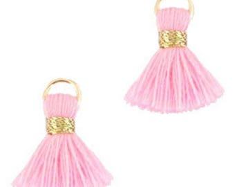 Beaded tassels, tassels, tassel pendant-1.5 cm-3 pcs.-Color selectable (color: light pink 2)
