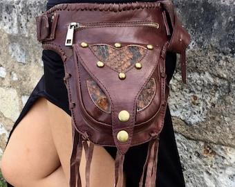 leather belt bag, leather fanny pack, hip bag, leather belt pouch, pocket belt, belt pouch, utility belt, festival belt bag, utility belt