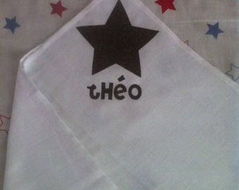 Personalized 100% cotton baby cloth diaper