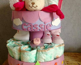 Customizable stars diaper cake