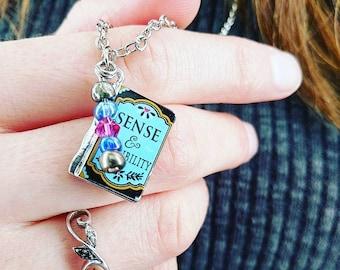 Sense and Sensibility Literature Charm Necklace