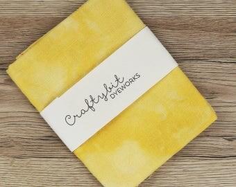 28ct Hand-dyed Glittery Zweigart Linen - Mustard