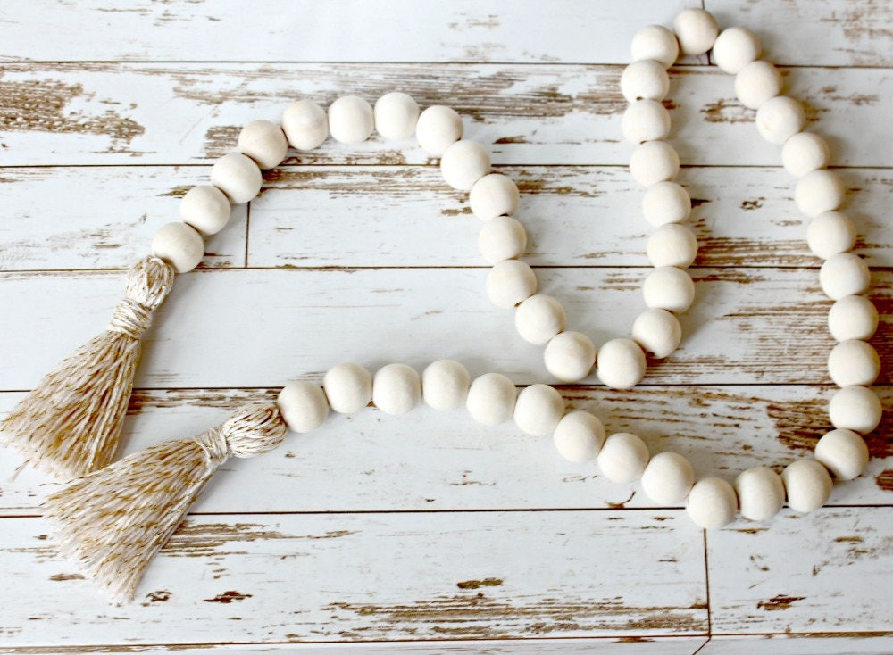 Large Wooden Bead Garland