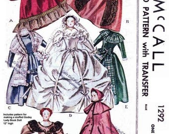 1946 Godey Lady's Book of Patterns circa 1860