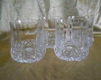 Highball Glasses, Set of 4, Unmarked, 12 oz. Glasses, Barware