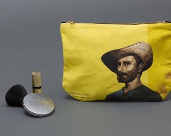 van gogh, Coin Purse, Makeup bag, zipper canvas pouch, Zipped Wallet, Small Purse, Accessory Purse, pencil pouch, Clutch Purse, cosmetic bag