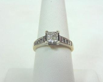 Vintage Estate Women's 14K White Gold 1.08cts Diamond Ring, 3.9g E3355