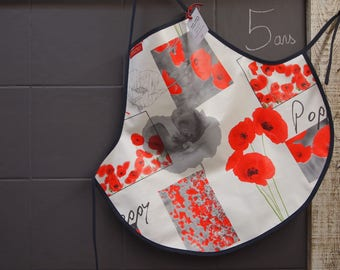 5 years of poppies oilcloth apron