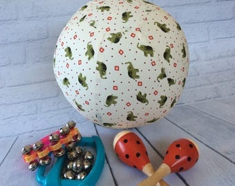 CLEARANCE SALE 40% OFF, Balloon Ball Cover, Handmade, Cotton Fabric, Sensory Play, Special Needs, Autism, Bouncy, Great Gift Idea