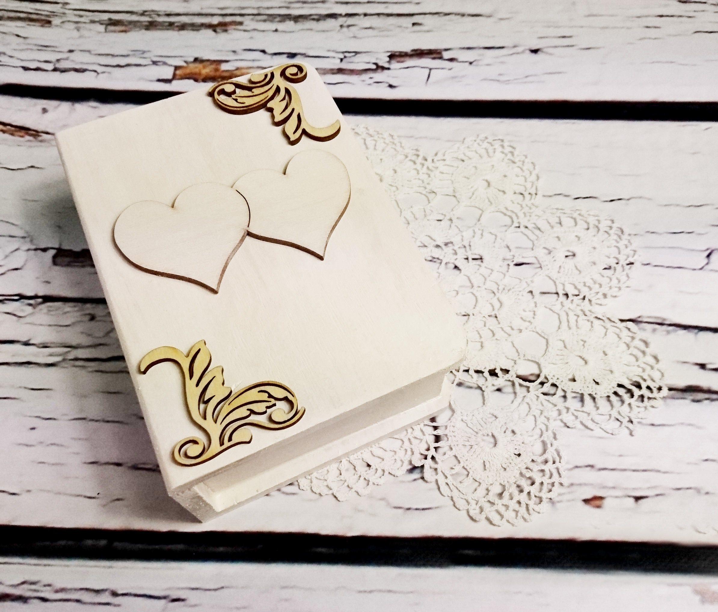 Wedding rings box engagement ring box book shaped wedding pillow