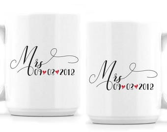 Engagement Mug - Mr and Mrs - Engagement Gift - 3 Versions Available