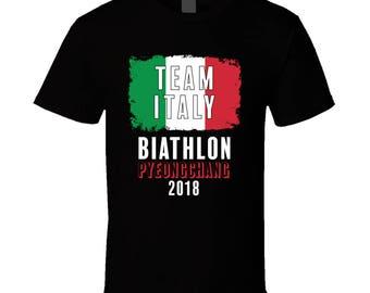 Team Italy Biathlon Pyeongchang 2018 Olympic T Shirt