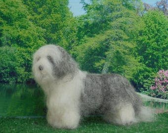 BEARDED COLLIE, BEARDIE  Dog.Any breed colour/shade ,Custom markings. No extra charge.  Needle felted from photographs.Unique Gift /Memorial