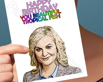 Funny Birthday Card | Leslie Knope | Wife Gift Card For Girlfriend April Ludgate Boyfriend Gift Blank Birthday Cards Card For Mom Card Aunt