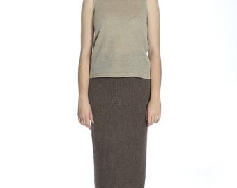 Special price. Casual handmade minimalistic long skirt, M size.