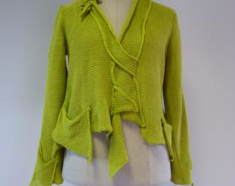 Special price, light green linen sweater, XL size.