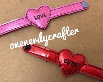 Flashing Valentines Day Heart Bracelet