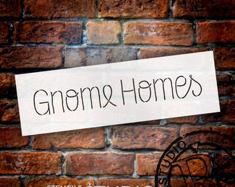 Gnome Homes - Thin - Word Stencil - Select Size - STCL2177 - by StudioR12