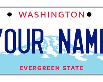 Washington State License Plates Etsy