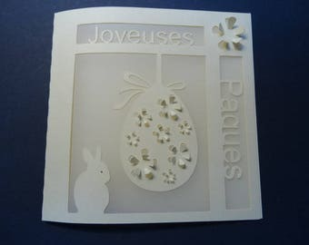 Easter card - egg and Bunny theme