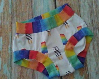 Rainbow popsicles toddler kids scrundies underwear / size 2t 3t 4t 5t