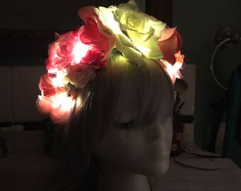 Glowing fairy crown (mulicolors)