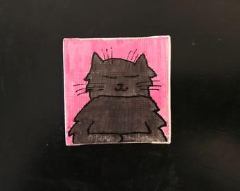 Kitties Tiny Magnet #1 Original Illustration