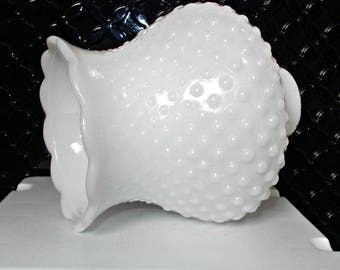 white hobnail glass shade milk glass chimney shadetulip shaped lamp chandelier globe - Replacement Glass Shades
