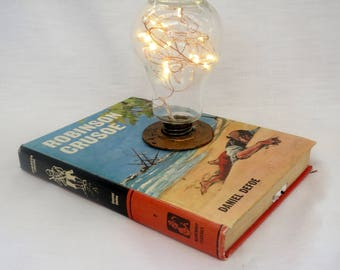 Vintage Fairy Light Book Lamps
