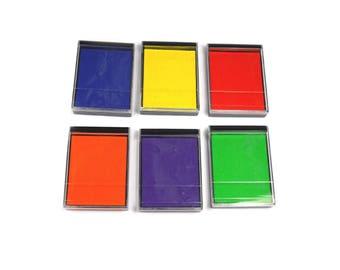 Bright Colour Mini Foam Paint Pads With Lids Paint Pads For Stamping Choose Colour
