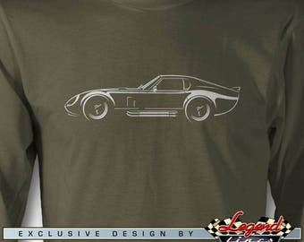 Daytona Coupe Replica Long Sleeves T-Shirt - Lights of Art - Multiple colors avail. - Size: S - 3XL - Great American AC Daytona Replica Gift