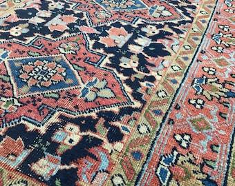 "3'1""x5'6"" Vintage Persian Heriz Rug"