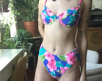 90s Vintage High Cut Bikini